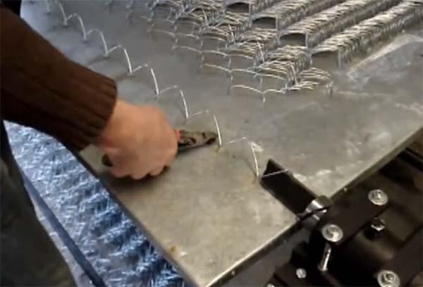 Изготовление сетки рабицы своими руками