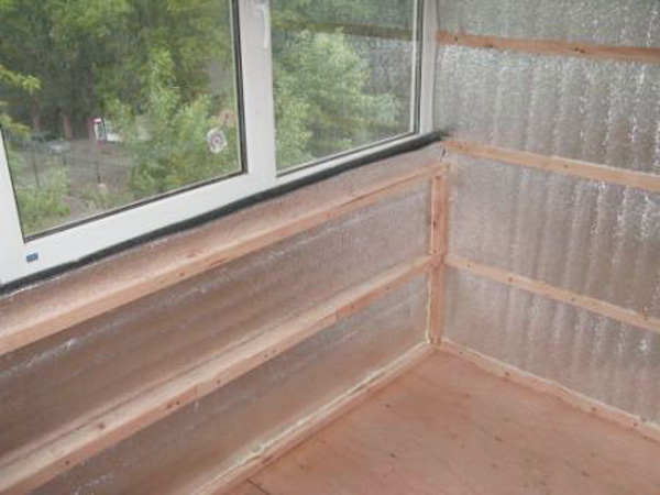 утепление балкона минеральной ватой и пенофолом