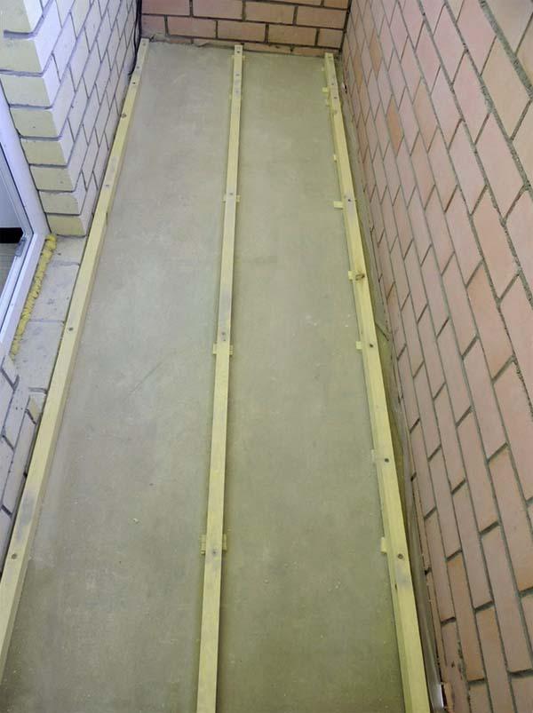 сделать деревянный пол на балконе