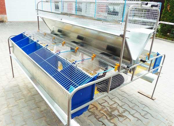 металлическая клетка из сварной сетки для кроликов