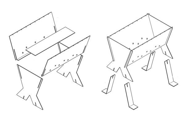 Разборные мангалы чертежи