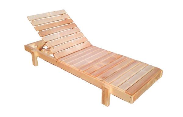 Лежак для дачи