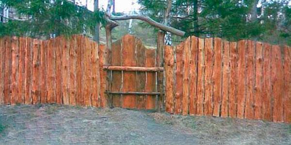 забор из горбыля фото