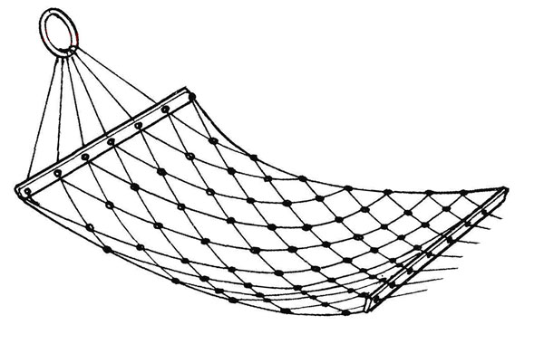 Как сделать гамак из волейбольной сетки