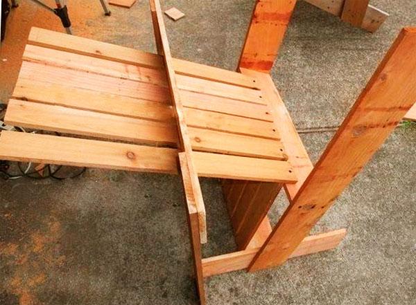 изготовление садовое кресло