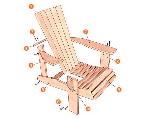 садовое кресло чертежи