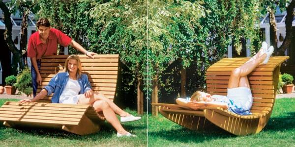 садовое кресло качалка
