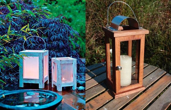сделать садовый фонарь для дачи