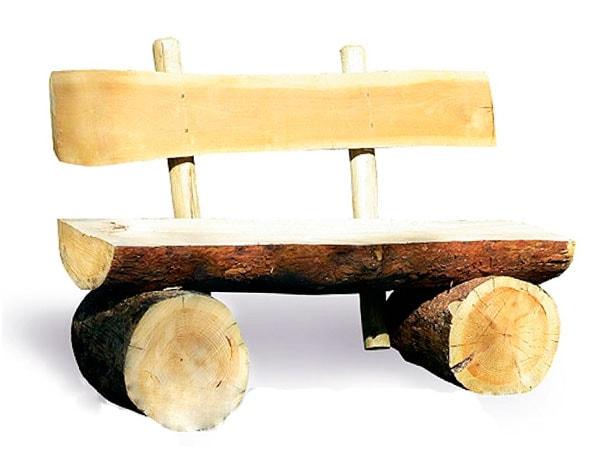 сделать скамейку из брёвен