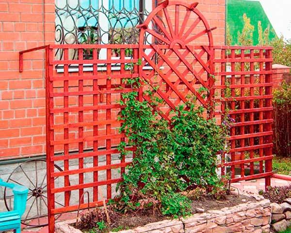 шпалера садовая деревянная