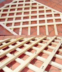 Как сделать решетка из дерева