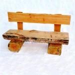 скамейка из брёвен