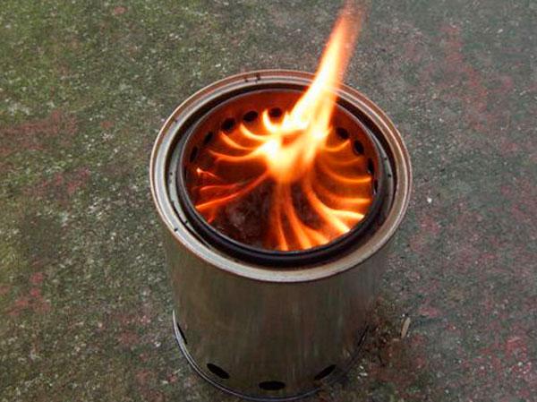 печка из консервных банок