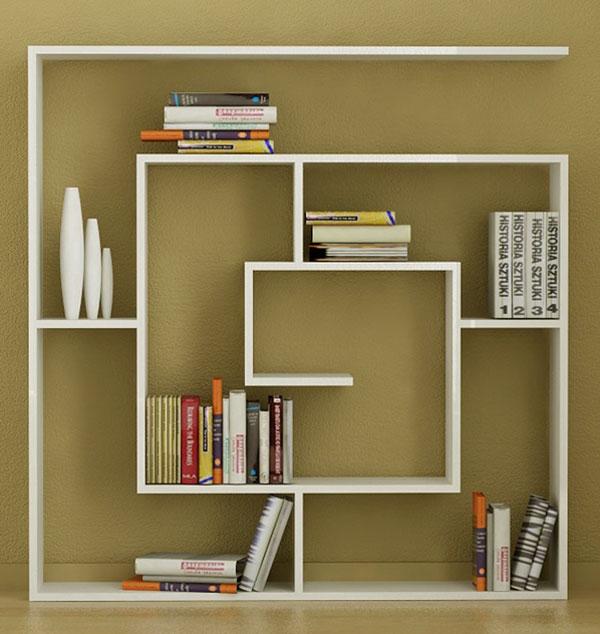 как сделать красивую книжную полку