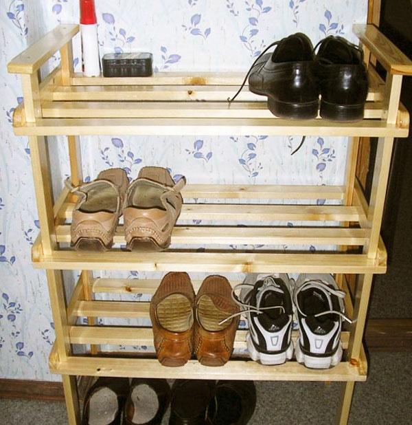 Как сделать полки для обуви на даче