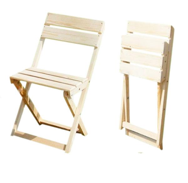 Деревянный раскладной стул со спинкой своими руками