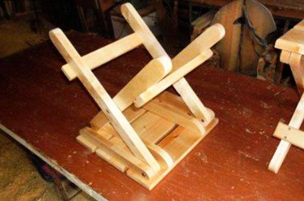 сделать складной стул 1