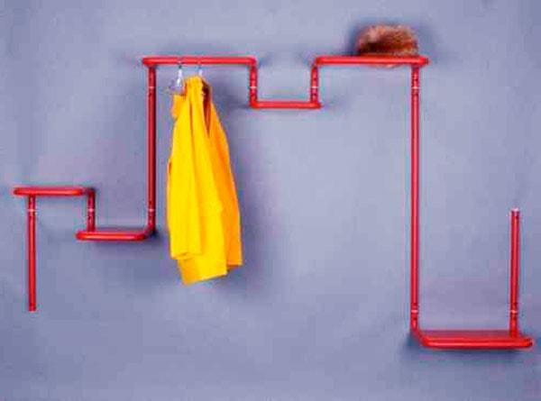 вешалка для одежды из труб