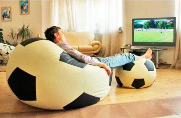 кресло мешок мяч самодельный