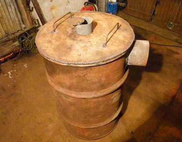 печь бубафоня из бочки