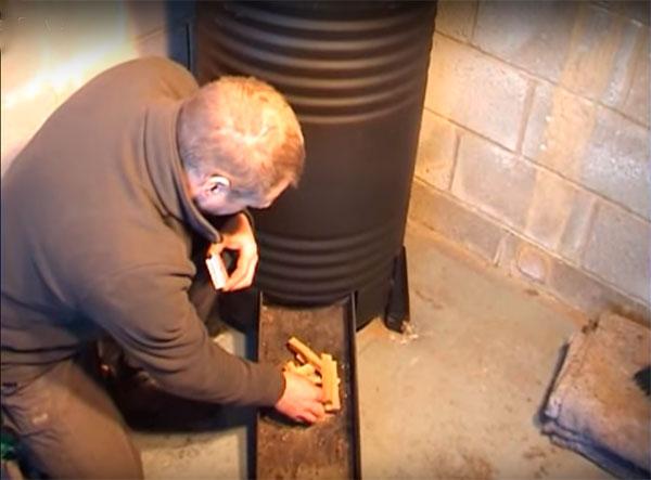 печь длительного горения для опилок