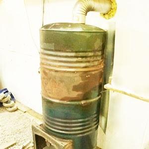Печка из бочки 200 литров: схема, чертежи, фото, видео