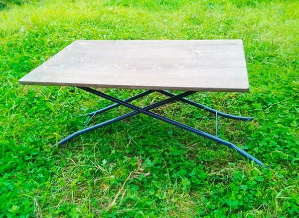 сделать столик для пикника
