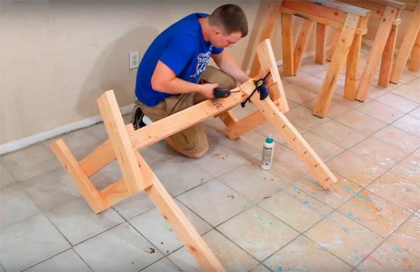 как сделать простую скамейку из досок