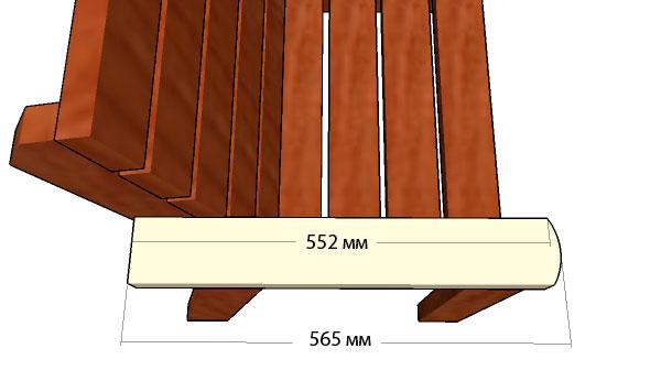 Как сделать скамейку со спинкой: чертежи, размеры, фото