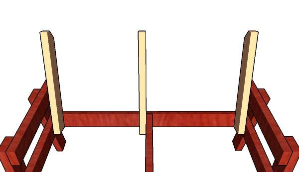 как сделать скамейку со спинкой чертежи