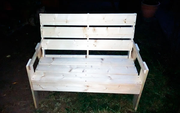 как сделать скамейку со спинкой фото