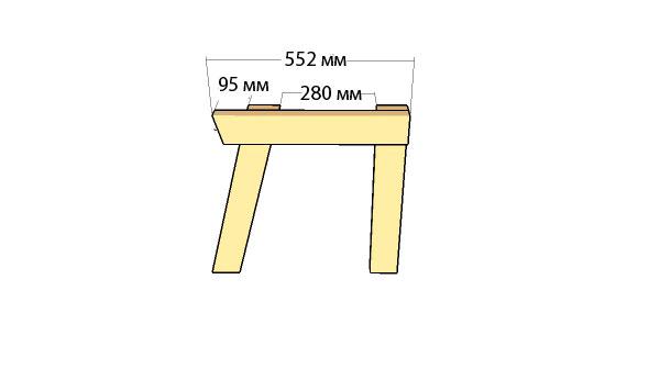 как сделать скамейку со спинкой схема