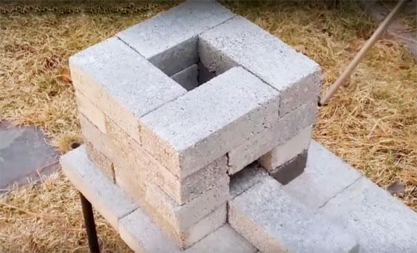 печь ракета из 20 кирпичей