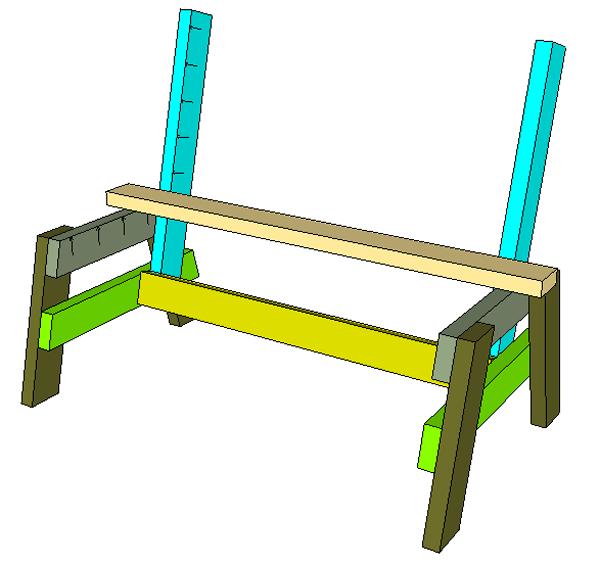простая скамейка из досок