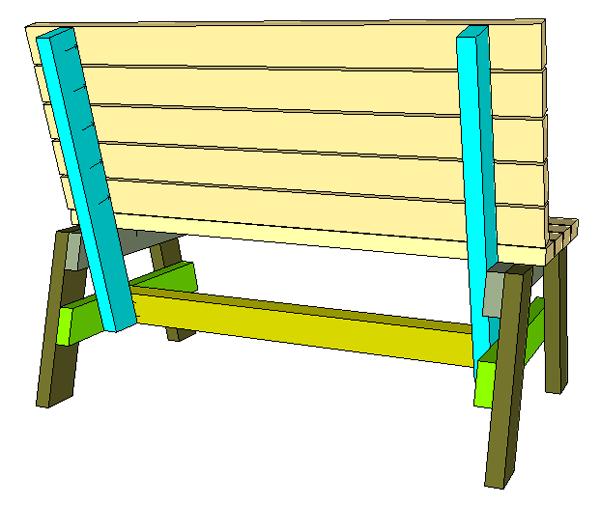 простая скамейка сборка