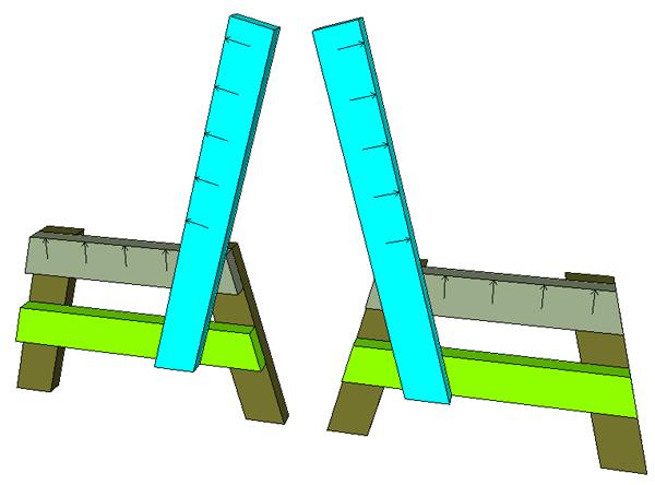 простая скамейка схема