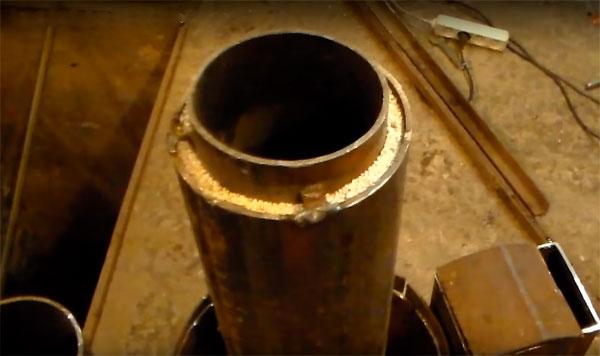 ракетная печка из баллона своими руками