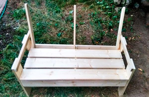 скамейка со спинкой чертежи размеры
