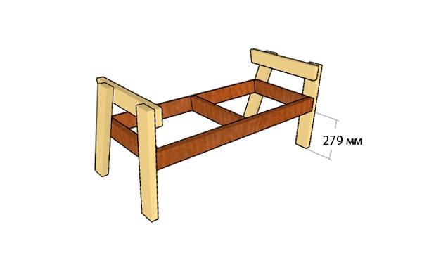 Сделать скамейку без спинки своими руками 512