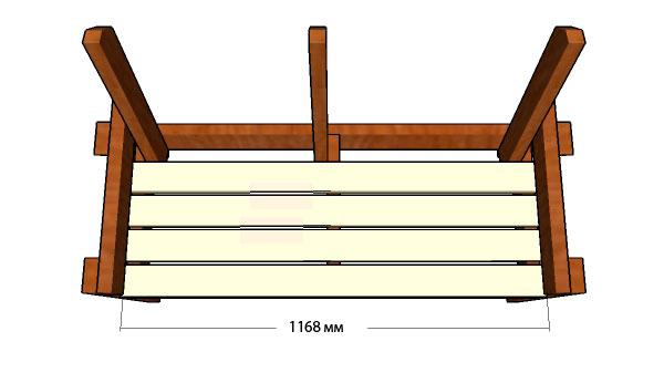 Размеры скамейки со спинкой своими руками фото 613