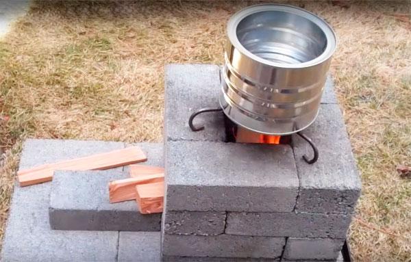 уличная печь из кирпича своими руками