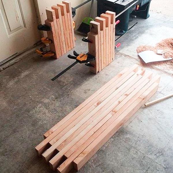 самодельная скамейка из дерева