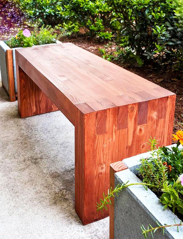 скамейка из дерева изготовление