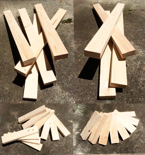 скамейка из дерева самодека