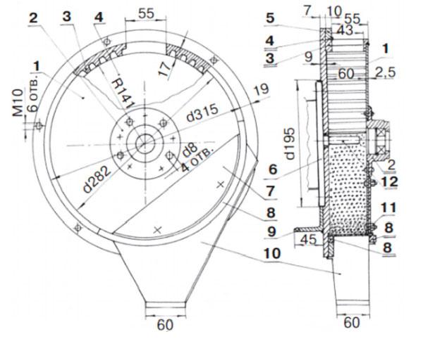 чертежи барабана зернодробилки