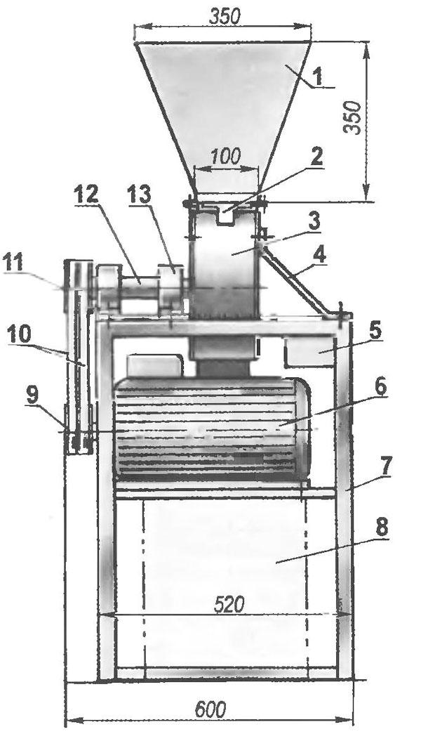 Крупорушка чертежи из пылесоса