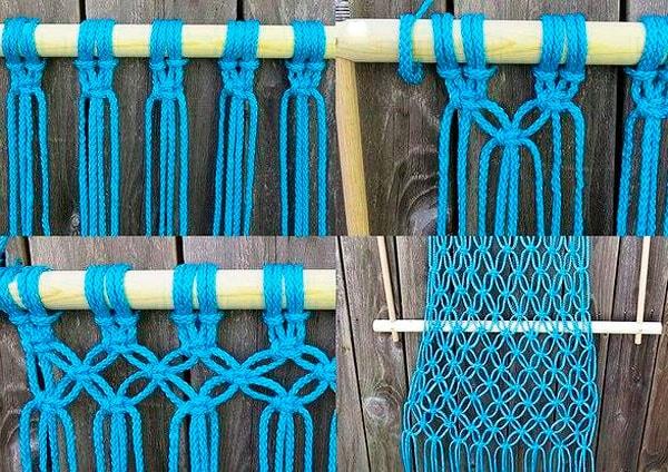 кресло гамак плетение