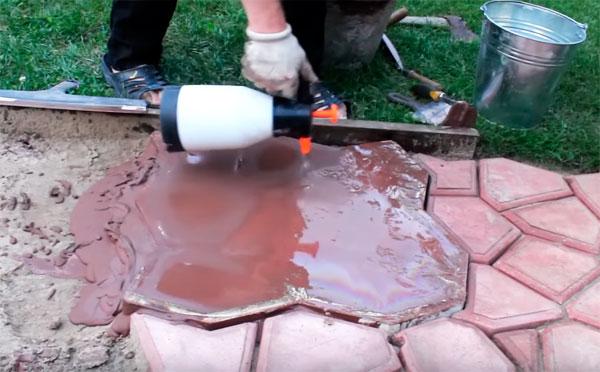 бетонная дорожка своими руками при помощи формы