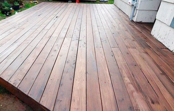 деревянная терраса фото