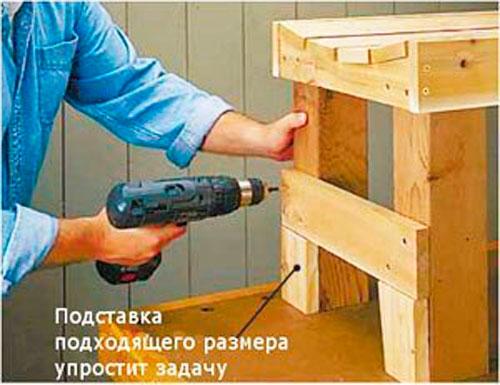 как сделать скамейку пошаговые фото
